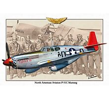 North American P-51 C Mustang - Tuskegee Photographic Print