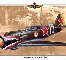 Lavochkin La-5 - Georgy Dmitrievich Kostylev by A. Hermann