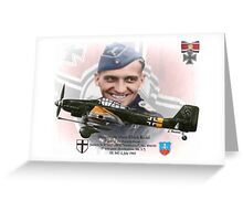 Hauptmann Hans-Ulrich Rudel Greeting Card