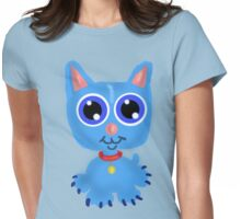 Blue Kitty  Womens Fitted T-Shirt