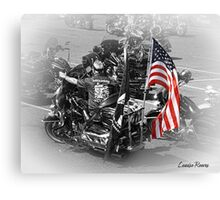 An American BIker Canvas Print