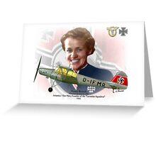 Hanna Reitsch Greeting Card