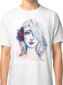 Curious Flower Girl Classic T-Shirt