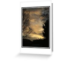 Sunset ... Greeting Card