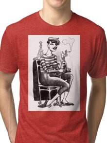 Le Snot by Short & Curly Graphics Tri-blend T-Shirt