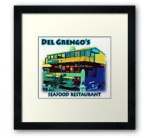 Del Grengo's Seafood Restaurant Dr. Steve Brule Design by SmashBam Framed Print