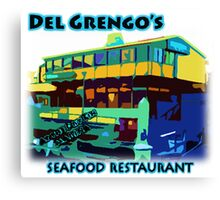 Del Grengo's Seafood Restaurant Dr. Steve Brule Design by SmashBam Canvas Print