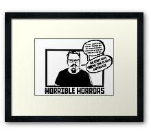 Horrible Horrors - Friday the 13th Framed Print