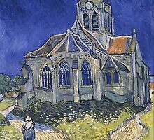 Vincent van Gogh - The Church in Auvers-sur-Oise, View from the Chevet - 1890 by forthwith
