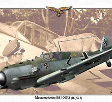 Messerschmitt Bf 109E4 - Franz von Werra by A. Hermann