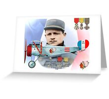 Raoul Lufbery - Escadrille Lafayette Greeting Card