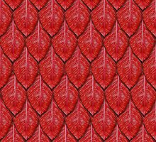 Red dragon scales by Aurora