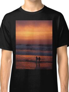 Bodyboarders at Sunset, Rossnowlagh, Co. Donegal Classic T-Shirt