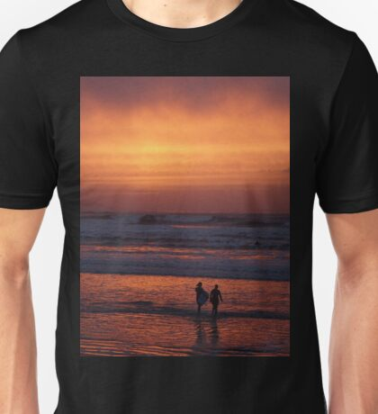 Bodyboarders at Sunset, Rossnowlagh, Co. Donegal Unisex T-Shirt