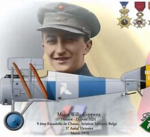 WW I Ace Major Willy Coppens by A. Hermann