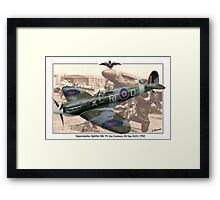 Supermarine Spitfire Mk Vb - Jan Zumbach Framed Print