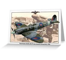 Supermarine Spitfire Mk Vb - Jan Zumbach Greeting Card