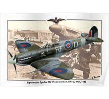 Supermarine Spitfire Mk Vb - Jan Zumbach Poster