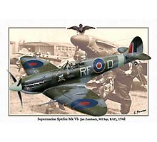 Supermarine Spitfire Mk Vb - Jan Zumbach Photographic Print