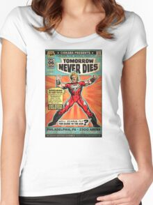 CHIKARA's Tomorrow Never Dies - Official Wrestling Poster Women's Fitted Scoop T-Shirt