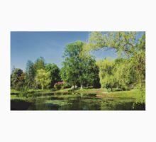 Beautiful Garden Pond Landscape One Piece - Short Sleeve