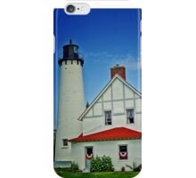 """""""Up North""""-Point Iroquois Lighthouse, Upper Pennusula, Michigan iPhone Case/Skin"""