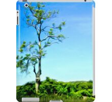 Painterly Lonely Tree on Hilltop iPad Case/Skin