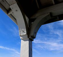 White Gazebo Roof Detail Under Blue Sky | Northport, New York  by © Sophie W. Smith