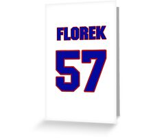 National Hockey player Justin Florek jersey 57 Greeting Card