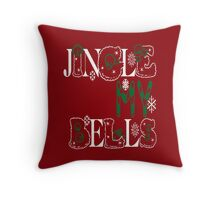 Jingle My Bells (red) Throw Pillow
