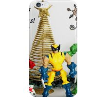 A Super Heroes Merry Christmas! iPhone Case/Skin
