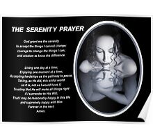 The Serenity Prayer 1 (for dark colors) Poster