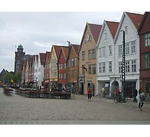 Shopping in Bergen Photographic Print