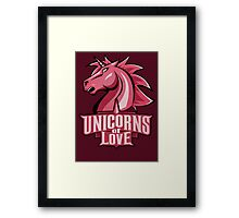 Unicorns of Love (Best quality ever) Framed Print