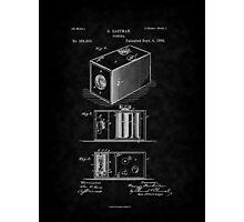 Eastman's 1888 Camera Patent Art_BK Photographic Print