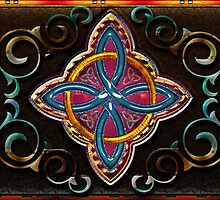 Wood Celtic Cross by Bluesax