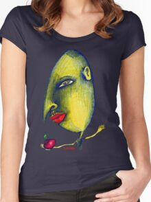 Man with Apple Women's Fitted Scoop T-Shirt