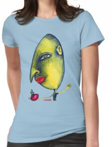 Man with Apple Womens Fitted T-Shirt