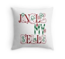 Jingle My Bells (white) Throw Pillow
