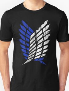 Attack On Titan - Survey Corps Logo (Blue Grunge v3) T-Shirt