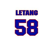 National Hockey player Kris Letang jersey 58 Photographic Print