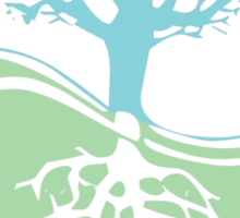 Conservation Tree Symbol aqua green Sticker