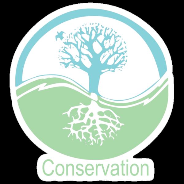 Conservation Tree Symbol aqua green by Ryan Houston
