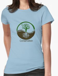 Conservation Tree Symbol brown green Womens Fitted T-Shirt