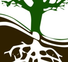 Conservation Tree Symbol brown green Sticker
