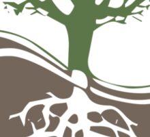 Conservation Tree Symbol brown green Sticker