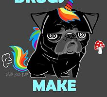 black unipug by darklordpug