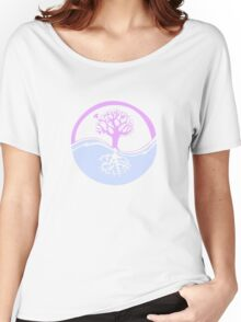 Conservation Tree Symbol Pink and Blue Women's Relaxed Fit T-Shirt
