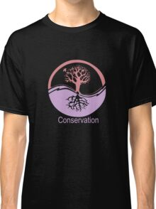 Conservation Tree Symbol Pink and Purple Classic T-Shirt