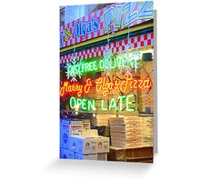 PIZZA SATURATION Greeting Card